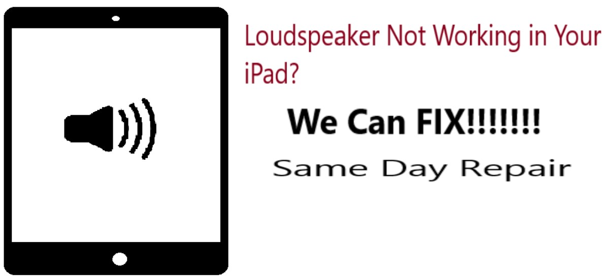 iPad Loudspeaker Not Working Repair Dallas